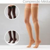 Meia - compressão média