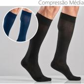 Meias de algodão unisexo compressão média